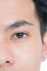 眉用のはさみでカットする場所(主に眉尻の長さ)を調整
