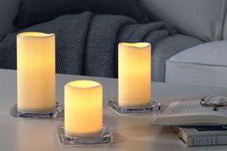 火を使わないから安心。LEDキャンドルを灯して癒やしのひとときを
