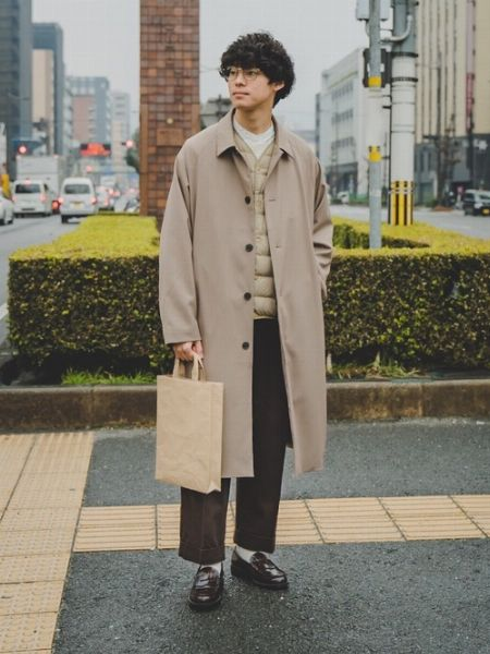 大人っぽいトラッドテイストを意識したリアルな着こなし