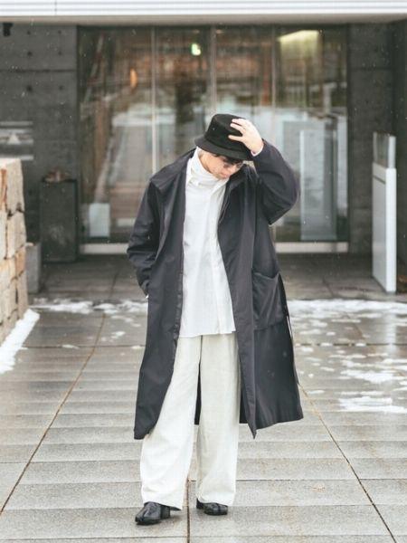 ▼~気温14度の冬コーデ編 -重たくなりがちな冬アウターをライトに見せる- 5枚目の画像