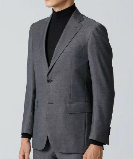 """テーラードジャケットは、""""ウール生地で2つボタンor3つボタンの無地""""がおすすめ"""