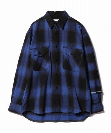 『エストネーション』フェザーネルチェックシャツ