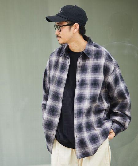『フリークスストア』ビッグシルエット ヘビーネルシャツ