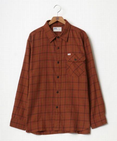 『リー』オーバーサイズ ネルチェックシャツ