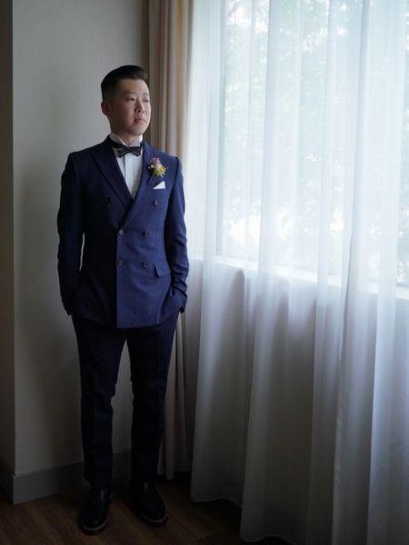 ジャストなサイズ感の結婚式スーツが着こなしをより魅力的に