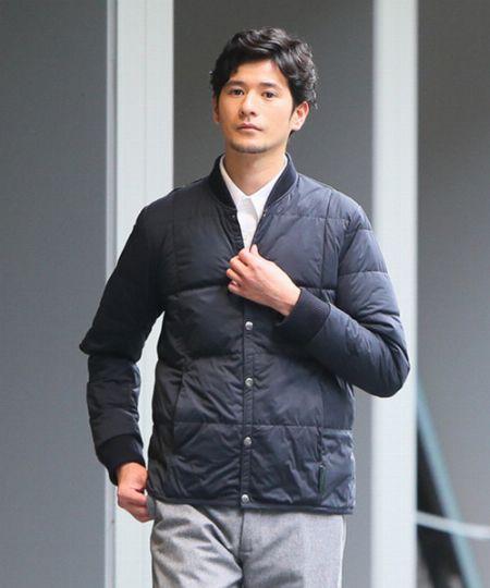 『ヨソオウ』リブカラーライトジャケット