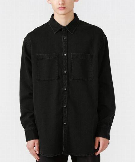 『ラブレス』オーバーサイズ ブラックデニムシャツ