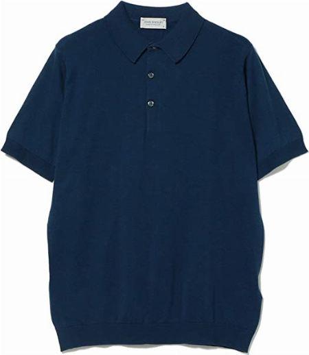 『ジョンスメドレー』KIERAN 30ゲージ コットン ニットポロシャツ