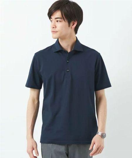 『グリーンレーベル リラクシング』 CSD D/C バーズアイ ボタンダウン 半袖 ポロシャツ