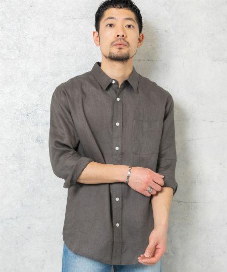 『アーバンリサーチ』高機能リネンショートスリーブシャツ