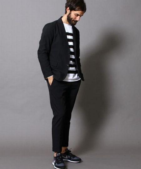 ブラックジャケットの着こなしで注意したいのは、フォーマル感の緩和! 5枚目の画像
