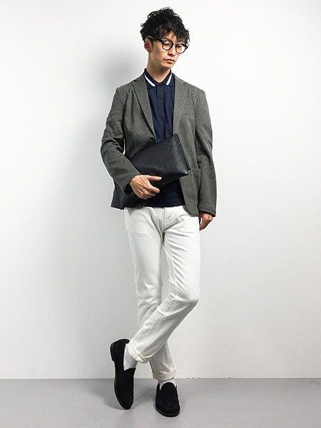 ▼ジャケット&ポロシャツで作るビジカジコーデ 2枚目の画像