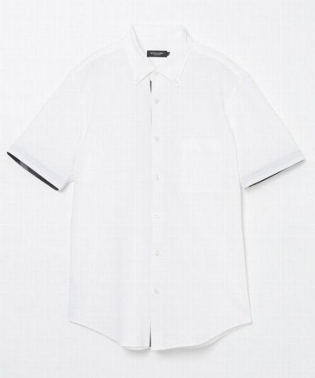 『ブラックレーベルクレストブリッジ』サッカージャージーボタンダウンシャツ