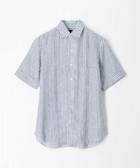 『トゥモローランド』サハラ ワンピースワイドカラーショートスリーブシャツ