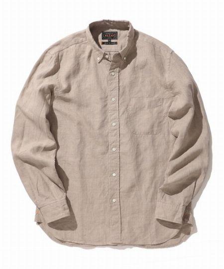 """""""リネンシャツ""""の色みで差をつける"""