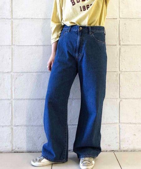 5ポケットワイドジーンズ