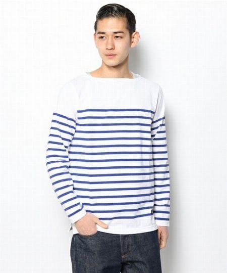 『ルミノー』マリンボーダーバスクシャツ