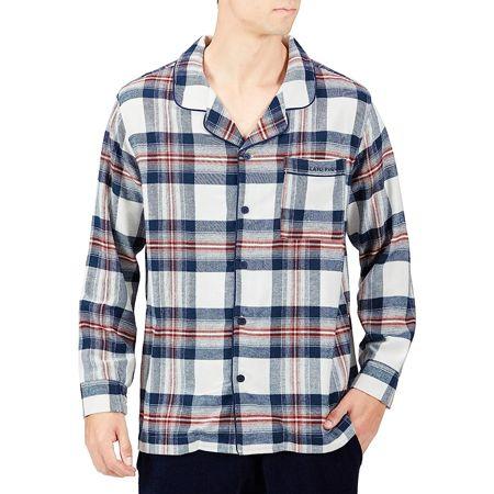 『ジェラートピケオム』チェックドッキングシャツ