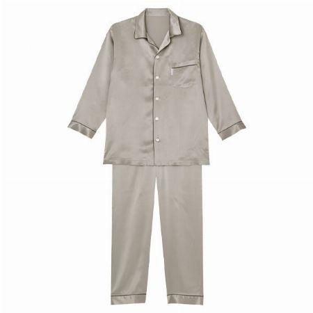 『睡眠科学』シルクサテン メンズパジャマ