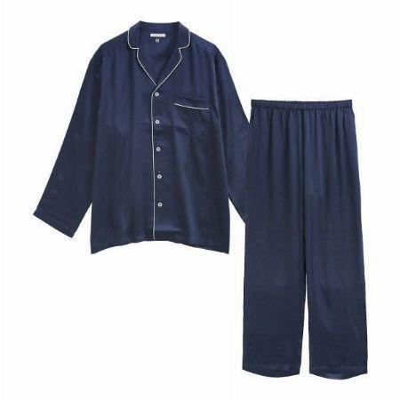 『快眠ナビ』シルク100%パジャマ