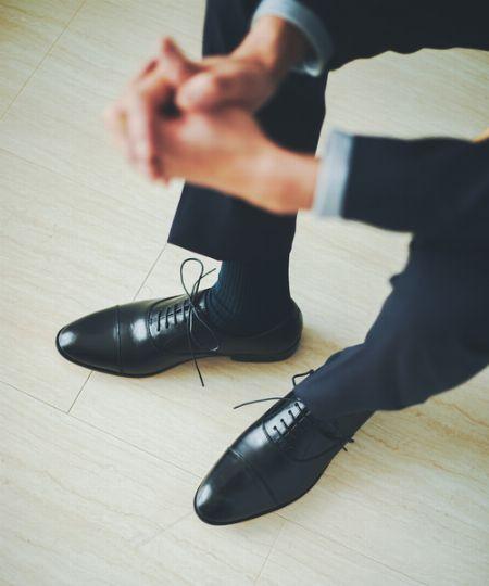 正統派スーツスタイルにはストレートチップ