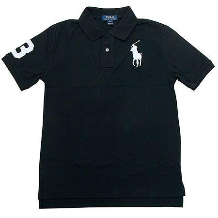 ビッグポニー 鹿の子 ポロシャツ ブラック
