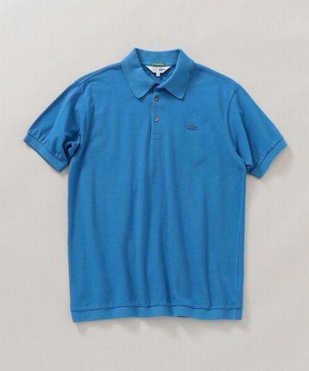 『ラコステ』×『シップス』クラシック ニットリブ ポロシャツ