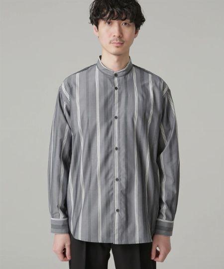 CM ストライプ ルーズ レギュラーカラー シャツ