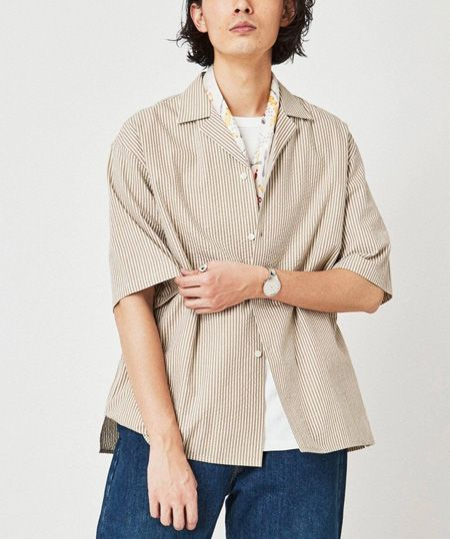 リラックス レギュラーカラー 半袖シャツ