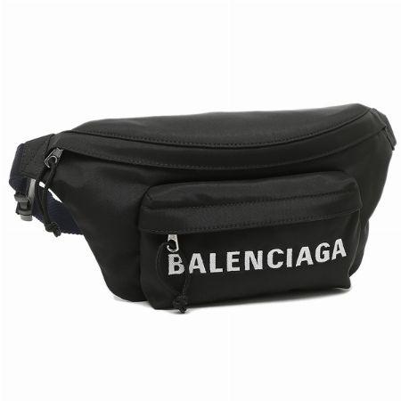『バレンシアガ』ウィール ベルトパック イン ブラック