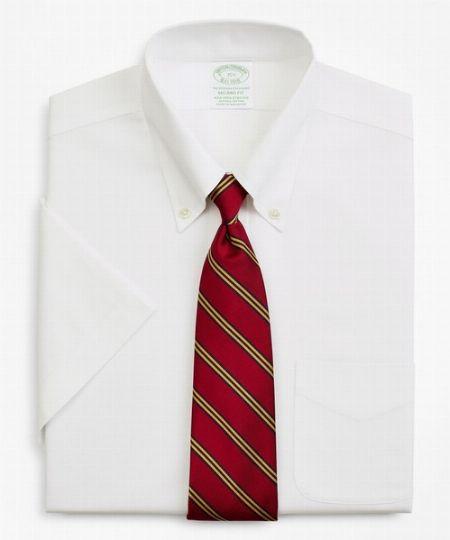 ピンポイントオックスフォード ショートスリーブポロカラーシャツ (ニュー・ミラノフィット)