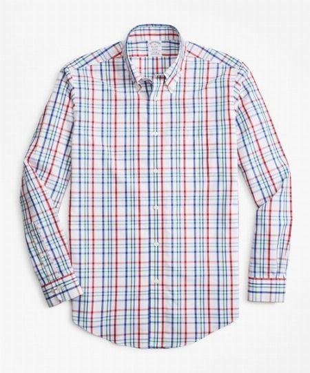 インディアコットン マルチチェック カジュアルシャツ(ニュー・リージェントフィット)