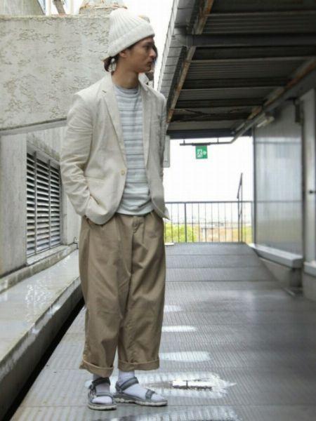 スポサン×靴下のおしゃれなコーデサンプル 2枚目の画像