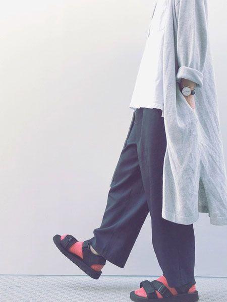 スポサン×靴下のおしゃれなコーデサンプル 3枚目の画像