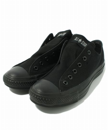 『コンバース』オールスタースリップ 3 OX ブラック×ブラック