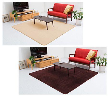 部屋の面積を大きく占めるラグは、空間の印象を左右する大事なアイテム