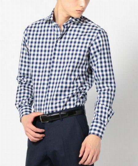 『シップス』ワイドカラーシャツ