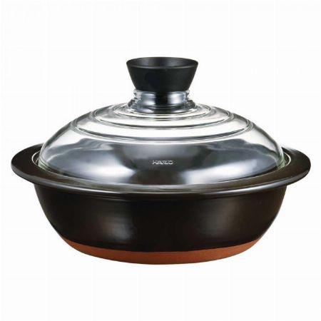 中身が見える『ハリオ』蓋がガラスの土鍋