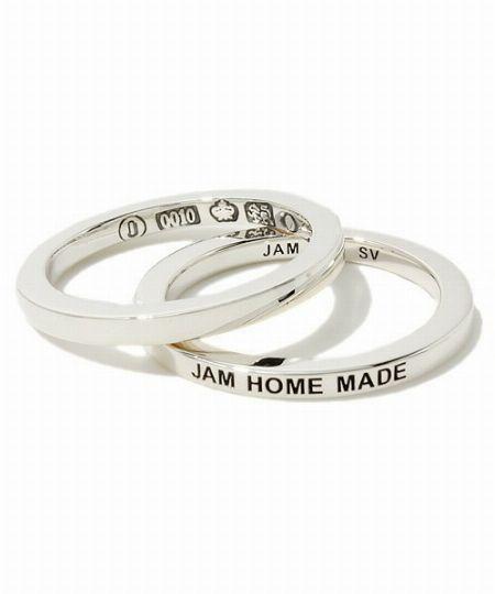 『ジャムホームメイド』平打ち ダイヤモンド ダブル リング