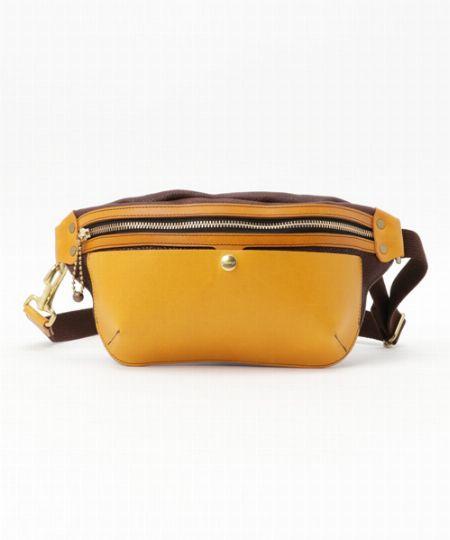 『クランプ』イタリアンレザー×オイルレザーポケットバッグ