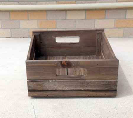 リサイクルウッド収納ボックス