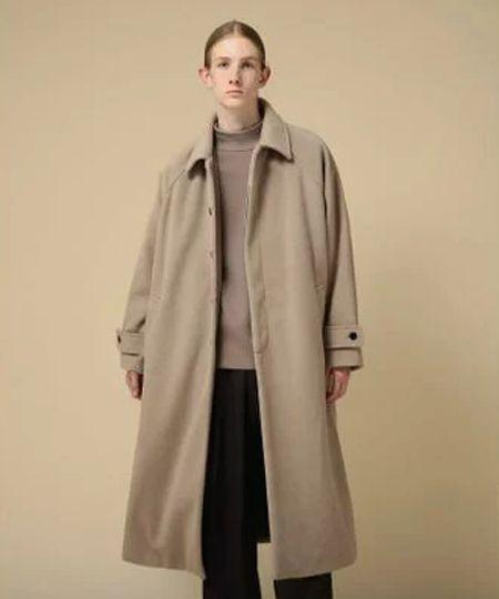 『ビームスライツ』ダブルフェイス ステンカラー コート
