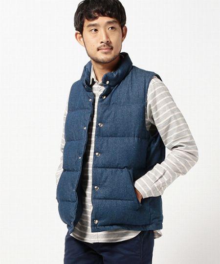 『ビームス』デニム ダウンベスト/20,520円(税込)