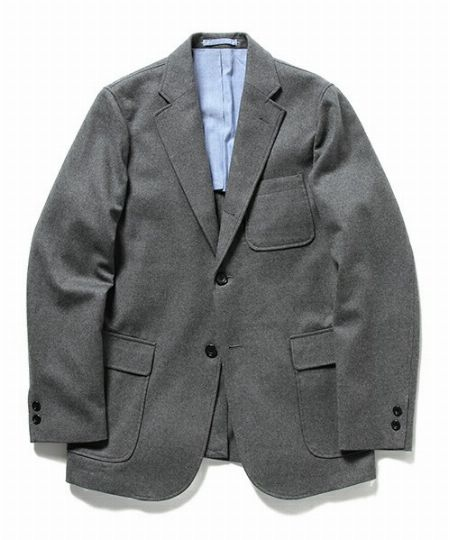 素材1:フランネルのジャケットはあくまで正統派に着る
