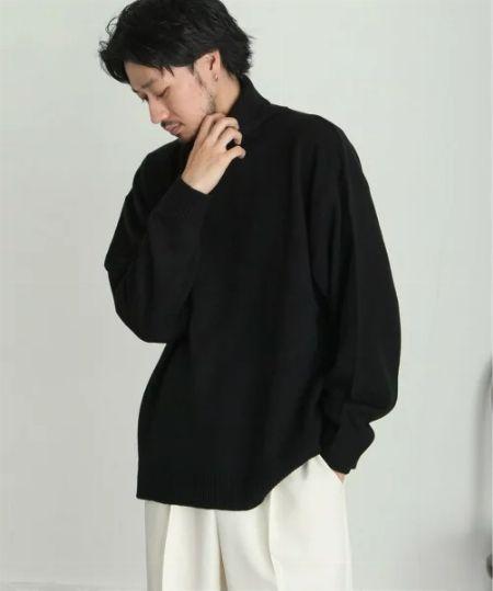 セーター コーデ 黒