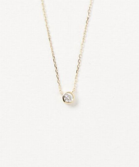 『エテ ビジュー』K18ダイヤモンド 0.15ct ネックレス「ブライト」/72,600円(税込)
