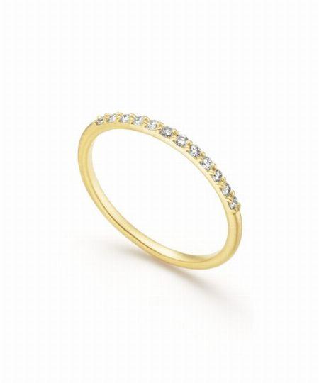 『スピックアンドスパン』Lilas AUTHENTIC オーバルラインダイヤモンドリングK10/66,000円(税込)
