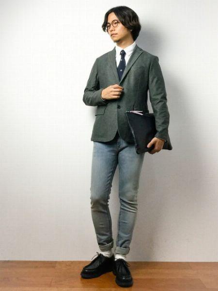 オン・オフともに使える『クレマン』革靴のコーデ 6枚目の画像