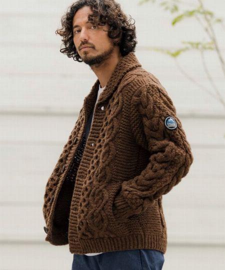 『カンビオ』 手編みカーデ