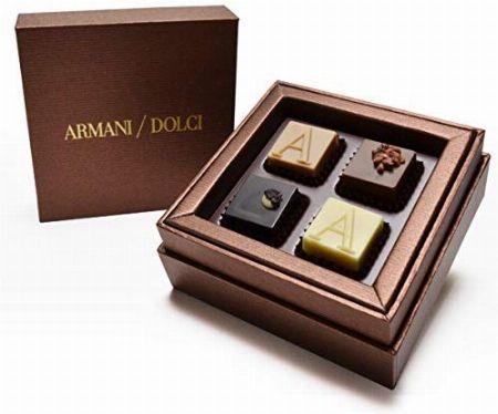 『アルマーニドルチ』チョコレート ブロンズボックス プラリネ